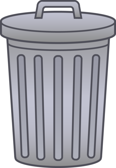 Trash Can Clip Art | Clipart | Clip art, Trash bins, Garbage can svg transparent library