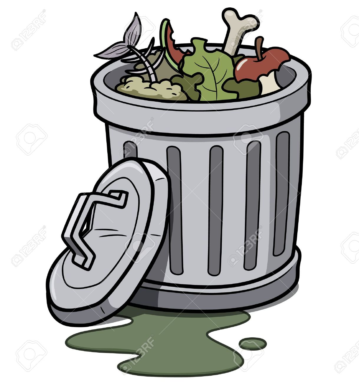 Cartoon Trash Can Clipart | Free download best Cartoon Trash Can ... png free