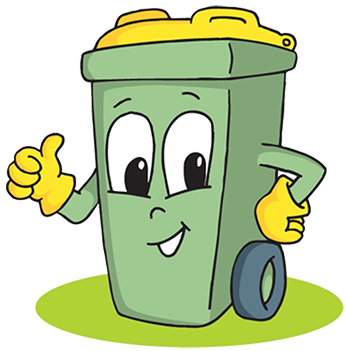 Cartoon trash can clipart images gallery for free download | MyReal ... clip black and white stock