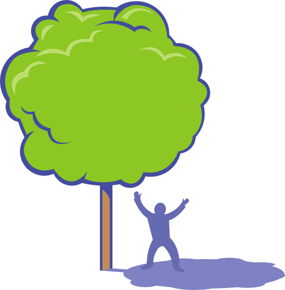 Cartoon tree clipart clipart royalty free Shady Tree Clip Art at Clker.com - vector clip art online, royalty ... clipart royalty free