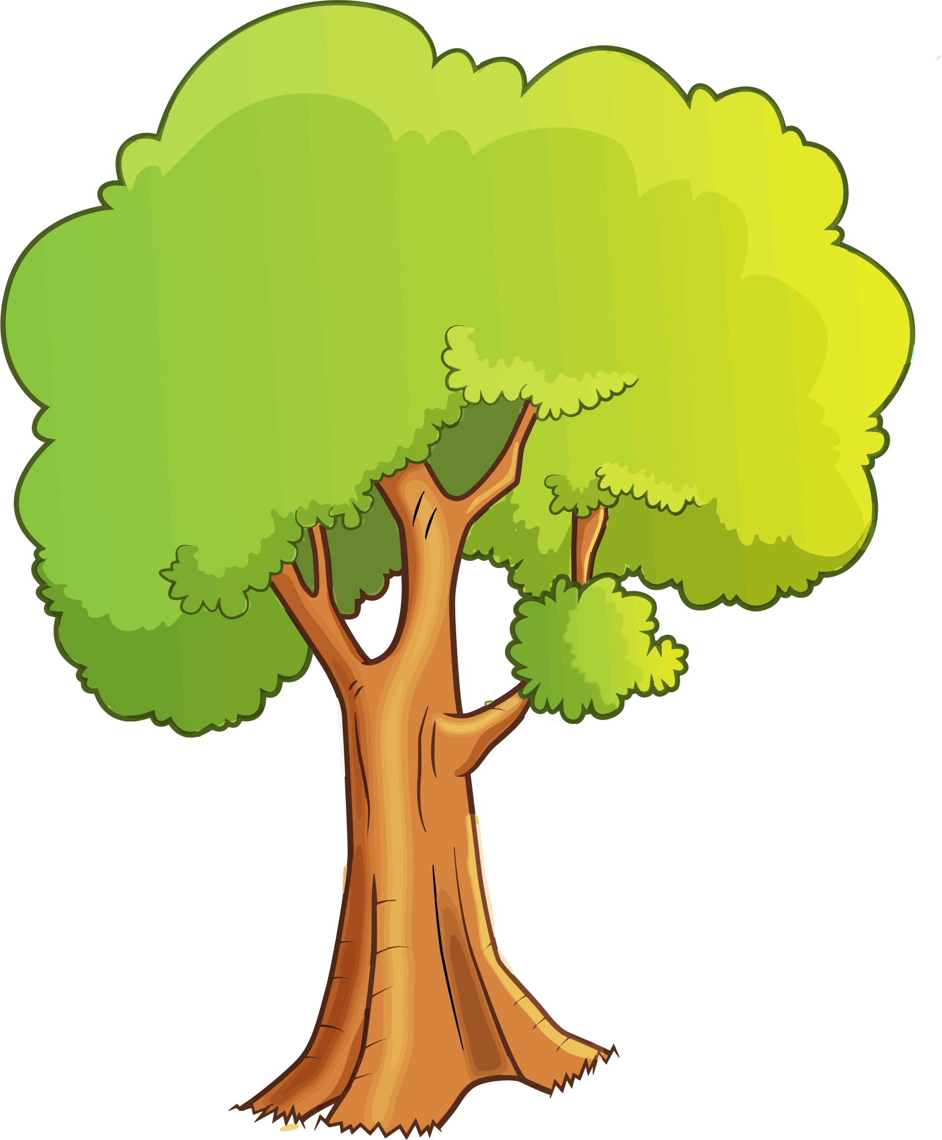 Cartoon tree clipart clip art free download Clipart - Cartoon Tree Isolated clip art free download