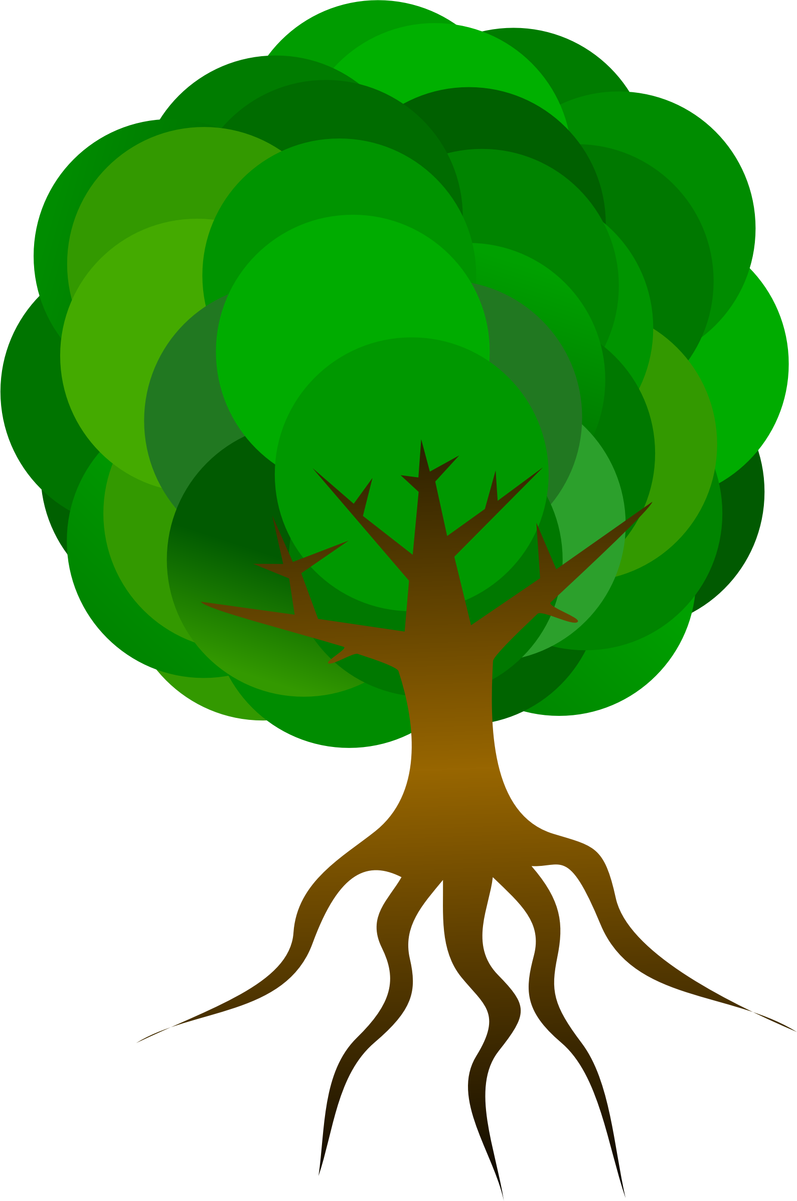 Tree root clipart vector library Tree 016 - http://www.dailystockphoto.net/tree-016/ | времена года ... vector library