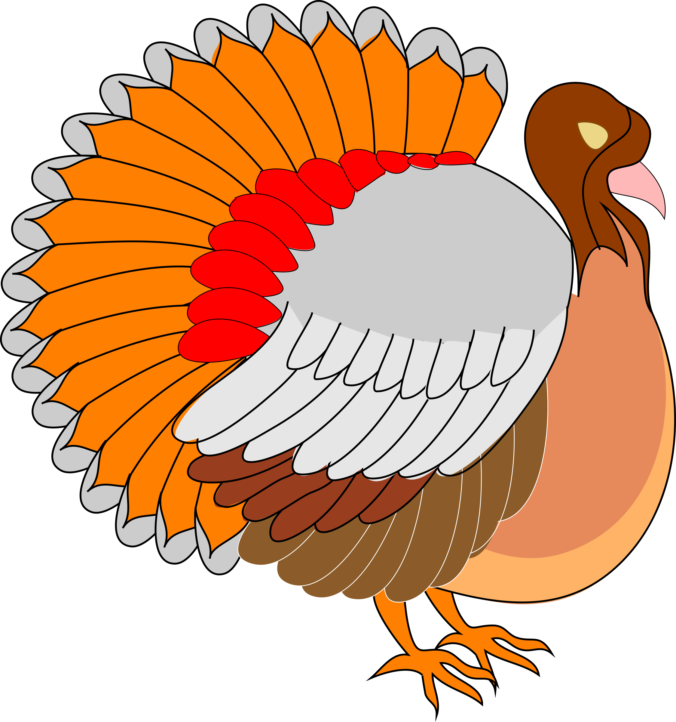 Stuffed turkey clipart graphic freeuse stock ➡➡ Turkey Black And White Clip Art Images Download graphic freeuse stock