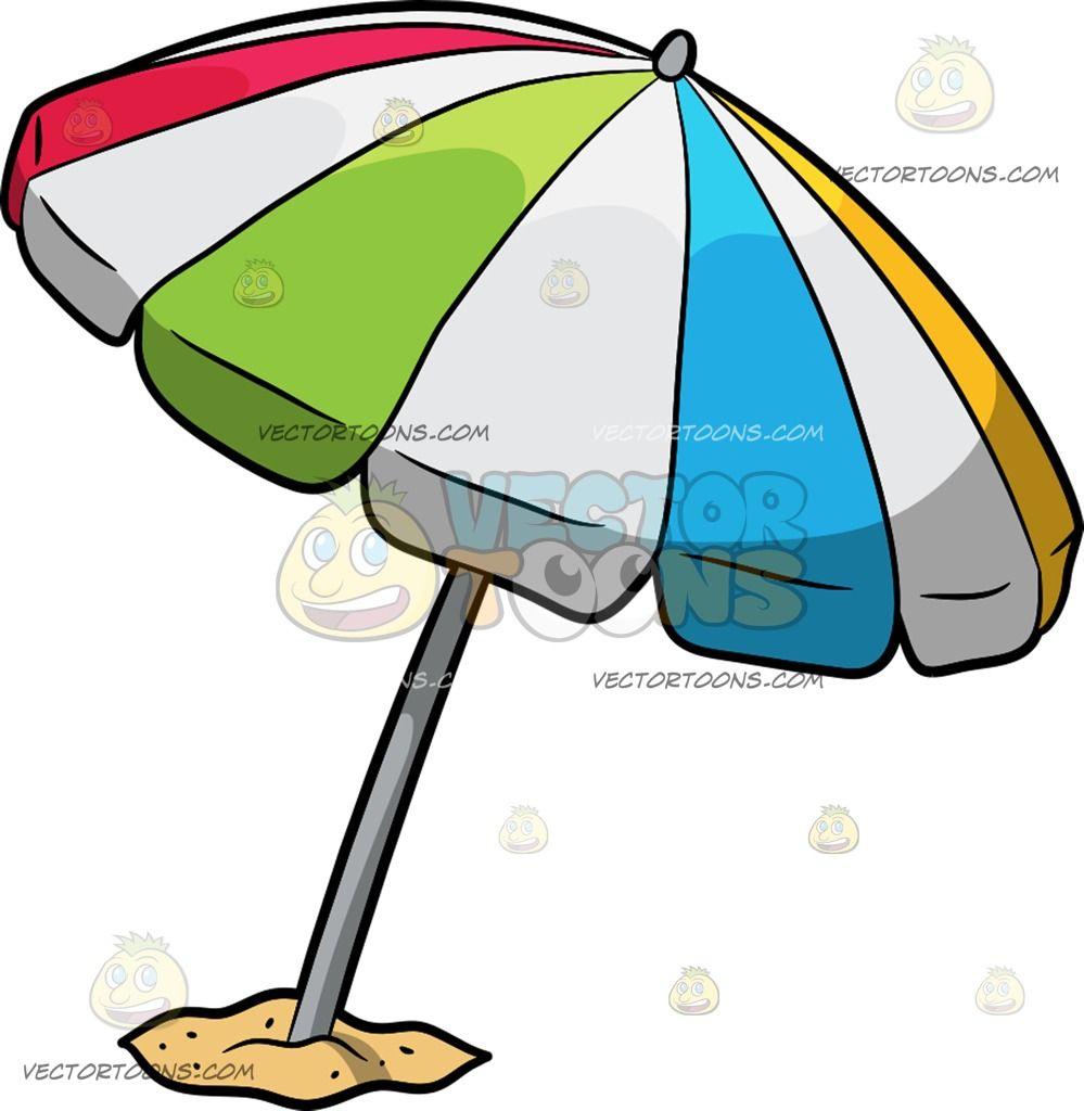 Cartoon umbrella clipart clip art royalty free download A Beach Umbrella Cartoon Clipart - Vector Toons | beach clipart ... clip art royalty free download