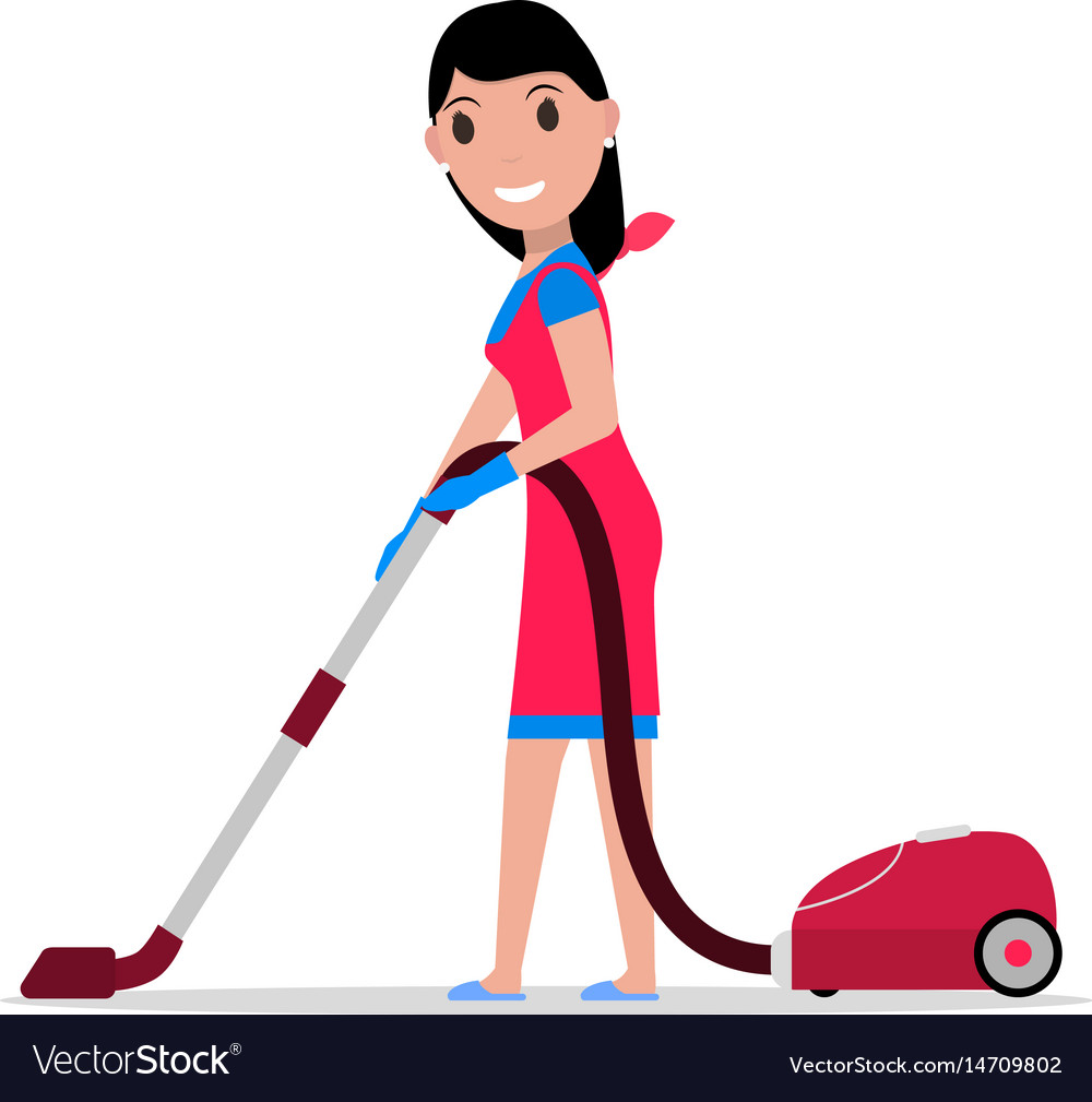 Cartoon vacuum cleaner clipart png transparent stock Cartoon girl with a vacuum cleaner png transparent stock
