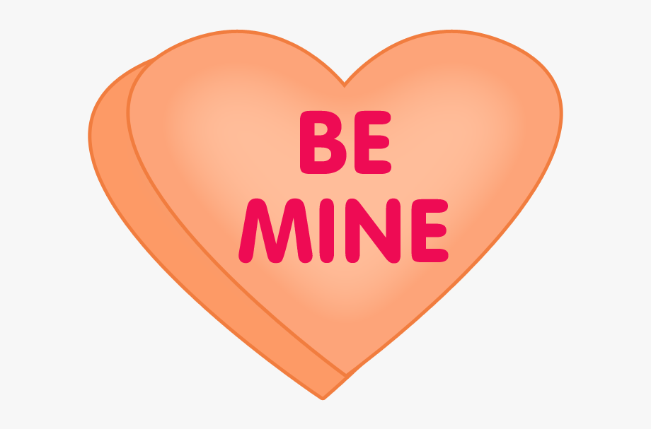 Clipart of conversation hearts with be mine