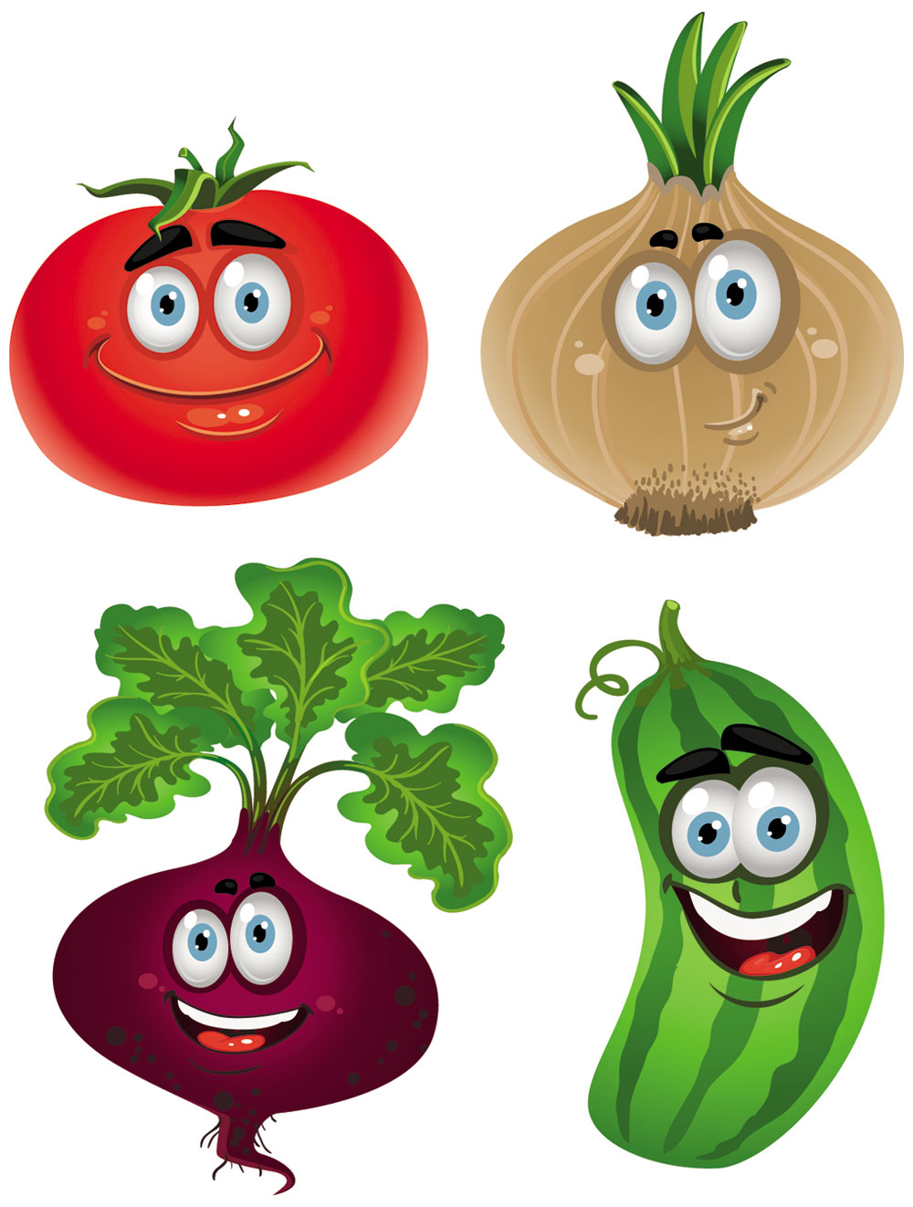 Cartoon vegetables clipart black and white Free Cartoon Vegetables, Download Free Clip Art, Free Clip Art on ... black and white