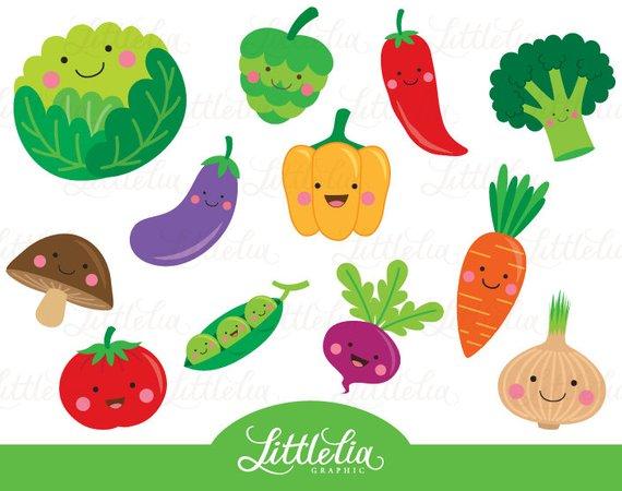 Cartoon vegetables clipart clip art transparent download Cute vegetable clipart - Veggie clipart - 15063   Products ... clip art transparent download
