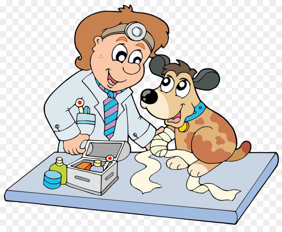 Cartoon veterinarian clipart clip art black and white download Puppy Cartoon png download - 1000*811 - Free Transparent Puppy png ... clip art black and white download