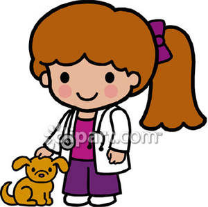 Cartoon veterinarian clipart picture transparent download A Veterinarian Wearing a Stethoscope - Royalty Free Clipart Picture picture transparent download