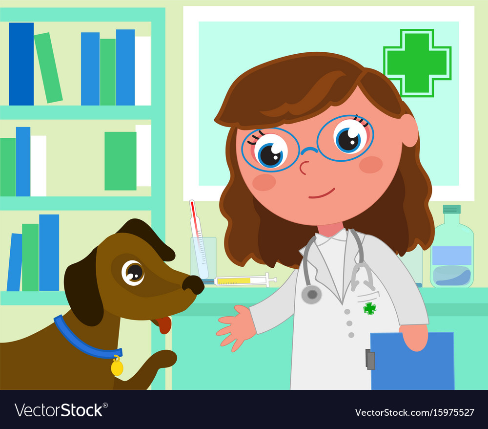 Cartoon veterinarian clipart picture royalty free download Cartoon vet office with dog picture royalty free download