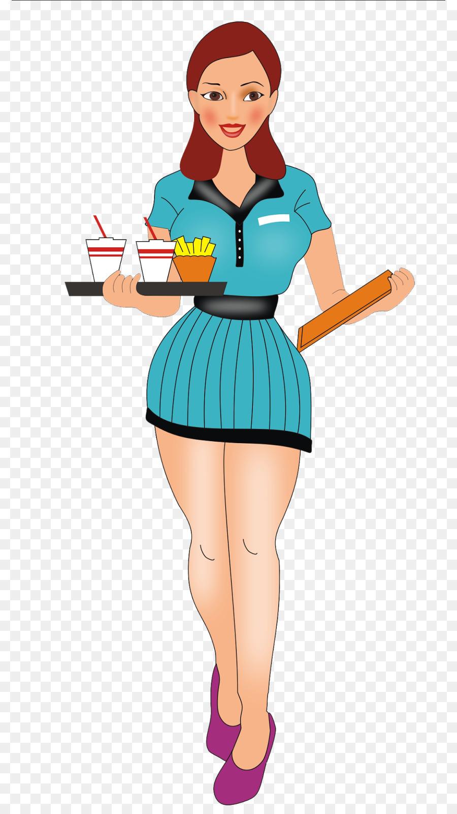Cartoon waitress clipart graphic free Cartoon Cartoon clipart - Clothing, transparent clip art graphic free