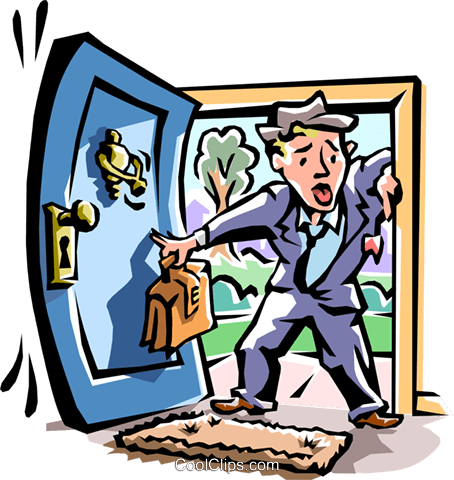 walking in the front door Royalty Free Vector Clip Art illustration ... graphic library library
