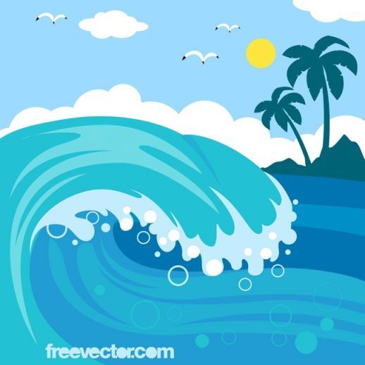 Cartoon waves clipart free image free download Cartoon Ocean Waves | Wave Vector | waves in 2019 | Waves vector ... image free download