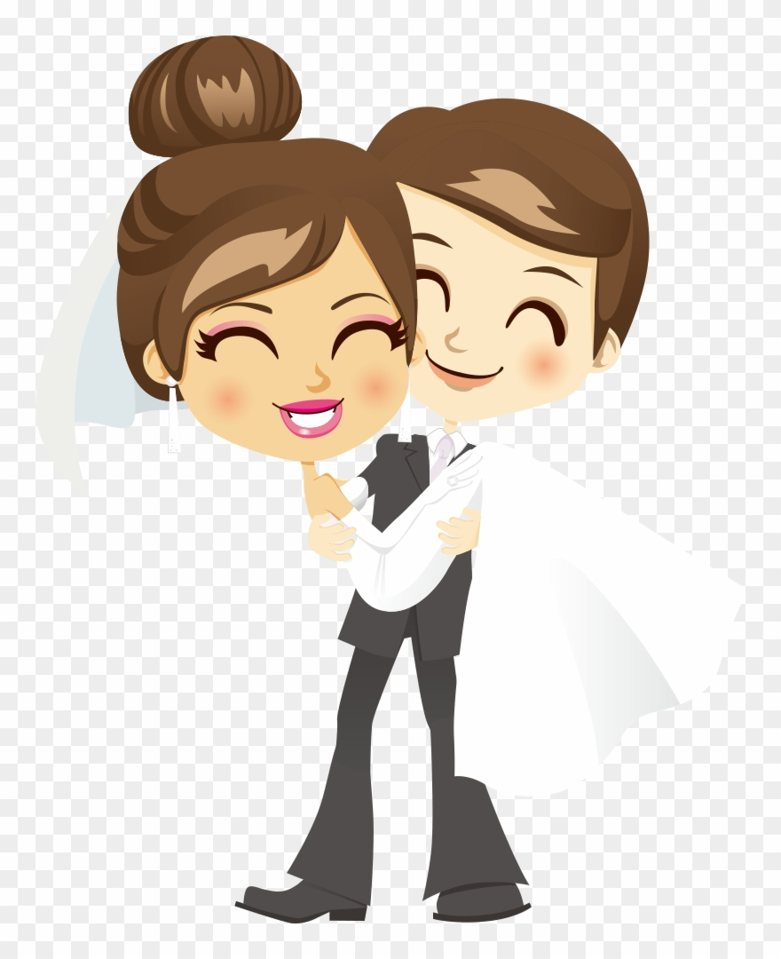 Cartoon wedding couple clipart free download Bridegroom Wedding Clip Art - Png Couple Cartoon Hd Transparent Png ... free download