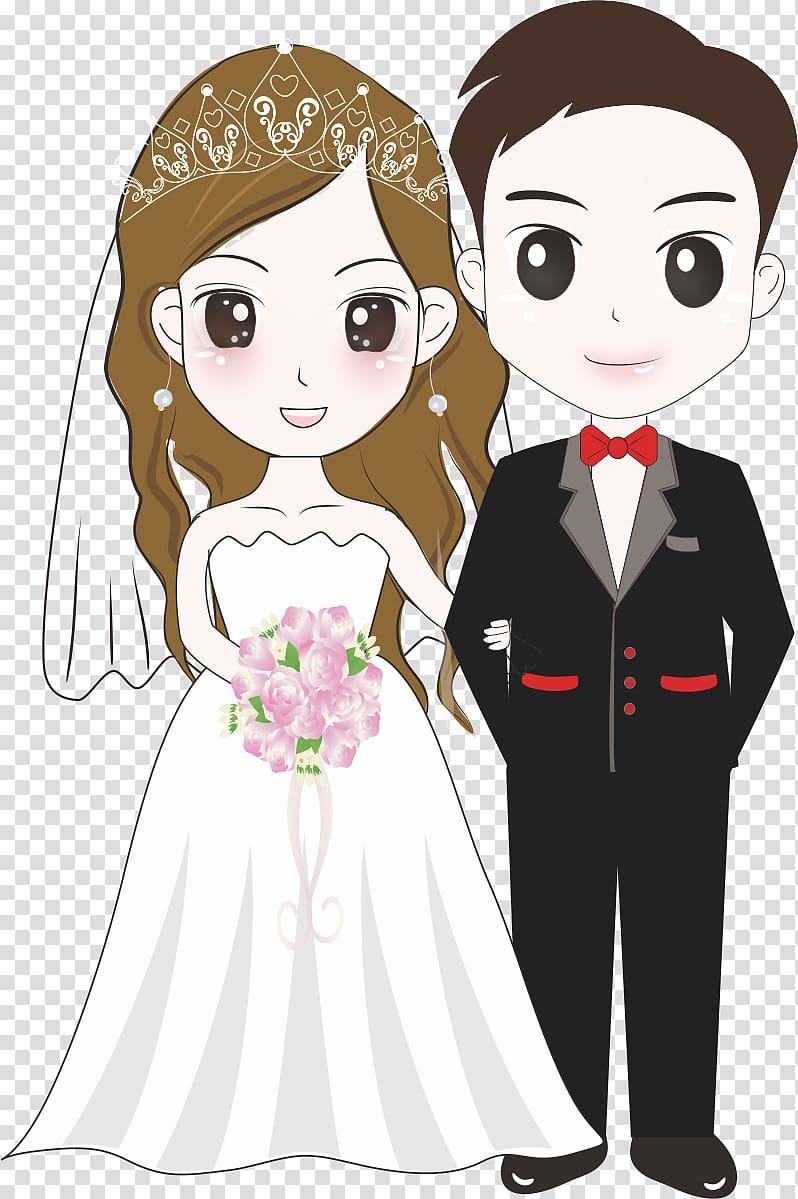 Cartoon wedding couple clipart clip library stock Wedding couple illustration, Bridegroom Wedding Illustration ... clip library stock