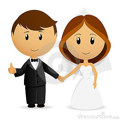 Cartoon wedding couple clipart png transparent stock Free Stock Photography Cute Cartoon Wedding Couple Image 19542167 ... png transparent stock