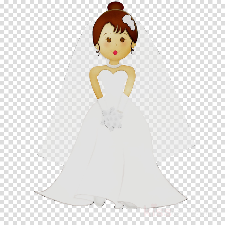 Cartoon wedding dress clipart clip royalty free stock Wedding Illustration clipart - Bride, Dress, Cartoon, transparent ... clip royalty free stock
