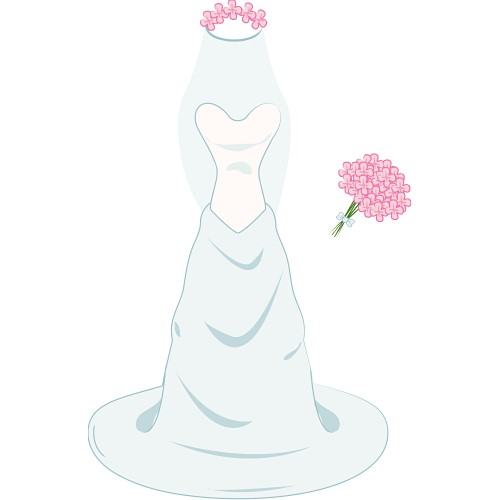 Cartoon wedding dress clipart vector transparent library Free Animated Wedding Cliparts, Download Free Clip Art, Free Clip ... vector transparent library