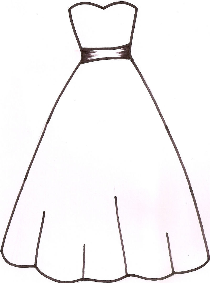 Princess dress clipart black and white image transparent Nightgown Clipart | Free download best Nightgown Clipart on ... image transparent