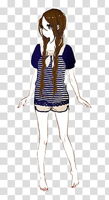 Cartoon women tops clipart without the white background
