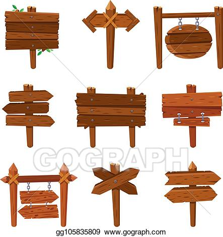 Cartoon wooden sign clipart jpg download Vector Clipart - Cartoon wooden arrows. vintage wood sign boards and ... jpg download
