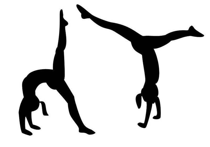 Cartwheel clipart png free download Gymnastics Clipart Black And White Cartwheel | Gymnastic clip art ... png free download