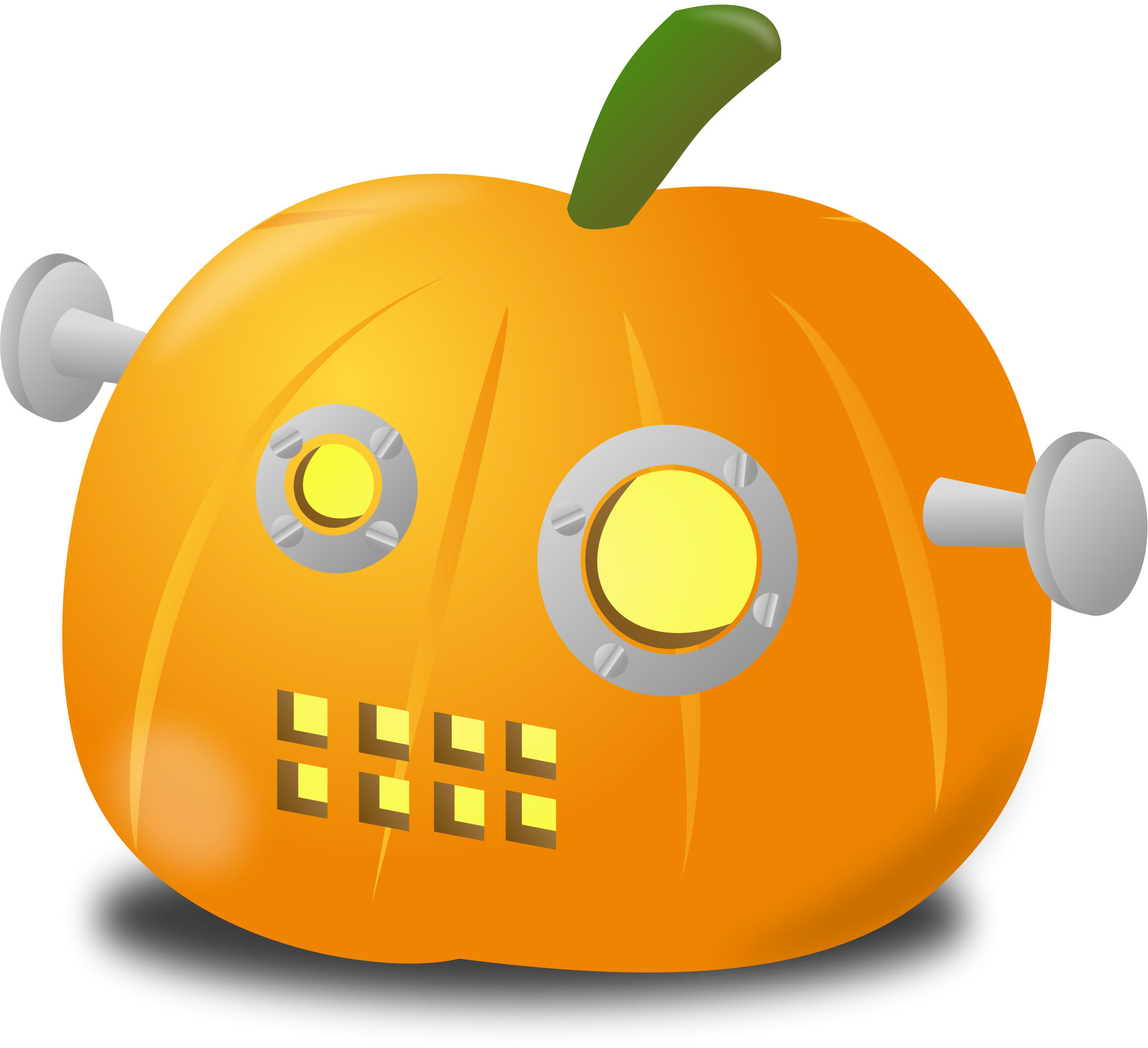 Multiple pumpkin clipart black white picture freeuse library Clipart - Robot pumpkin picture freeuse library