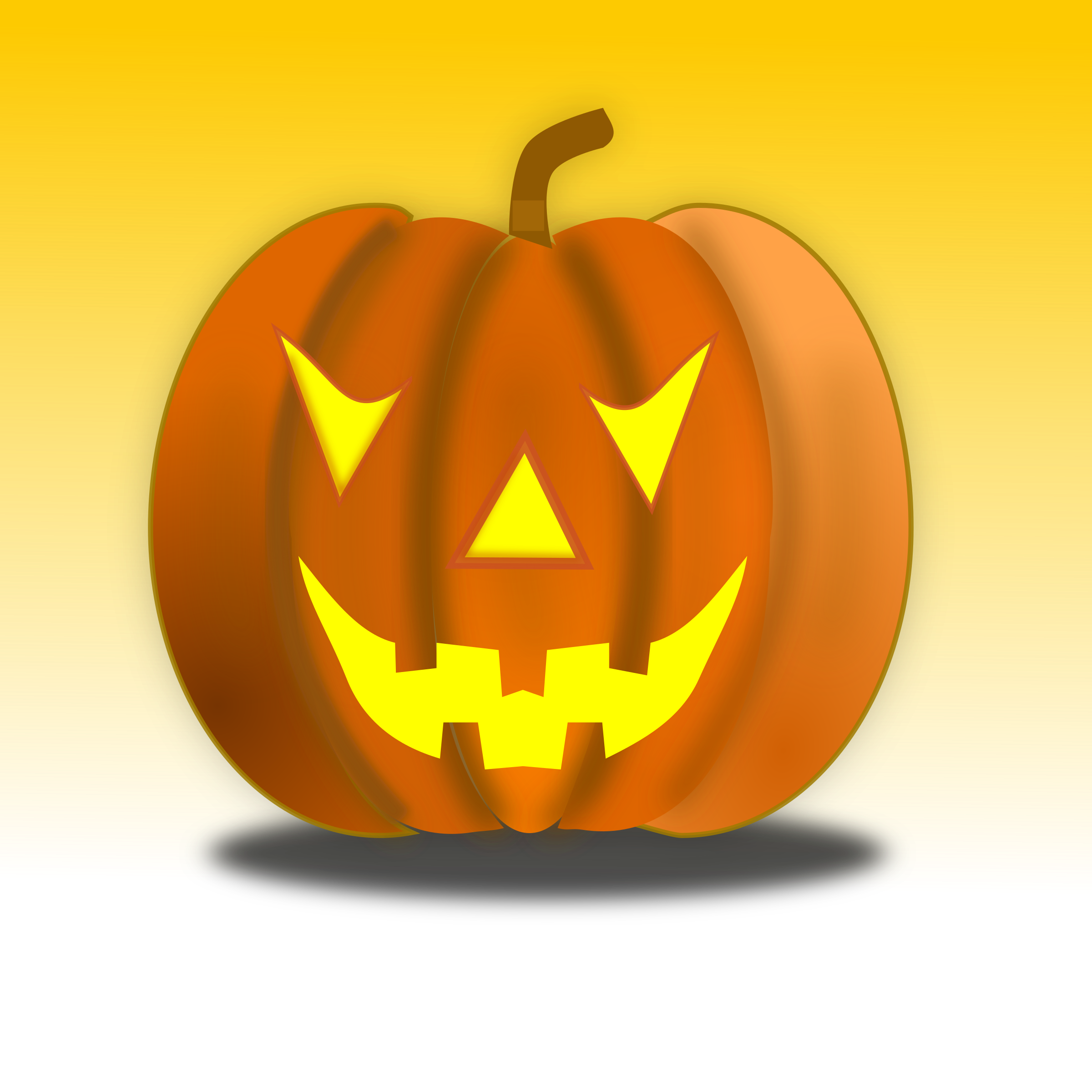 Inside a pumpkin clipart banner free stock Halloween Pumpkin Icon 64x64 Icons PNG - Free PNG and Icons Downloads banner free stock