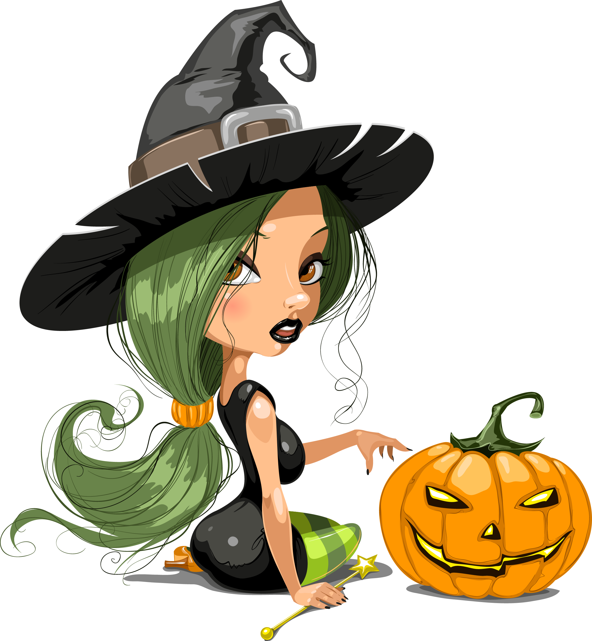 Clipart of witch and pumpkin black and white clip black and white download Tubes Hallowen | Brujas | Pinterest clip black and white download