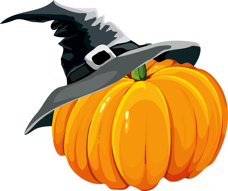 Pumpkin witch hat clipart clip black and white library 28+ Collection of Pumpkin With Witch Hat Clipart | High quality ... clip black and white library