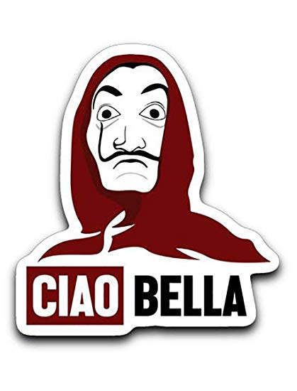 Casa clipart exams svg royalty free Amazon.com: 95Vibes Bella Ciao Money Heist - La Casa De Papel ... svg royalty free