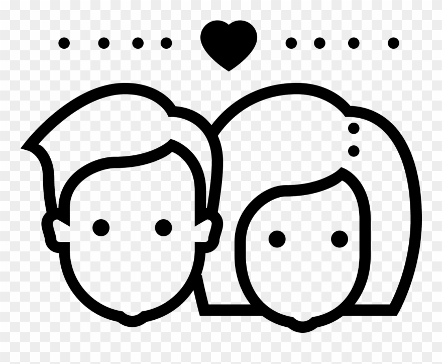 Casal clipart image black and white Couple Icon - Icon De Casal Png Clipart (#3734113) - PinClipart image black and white