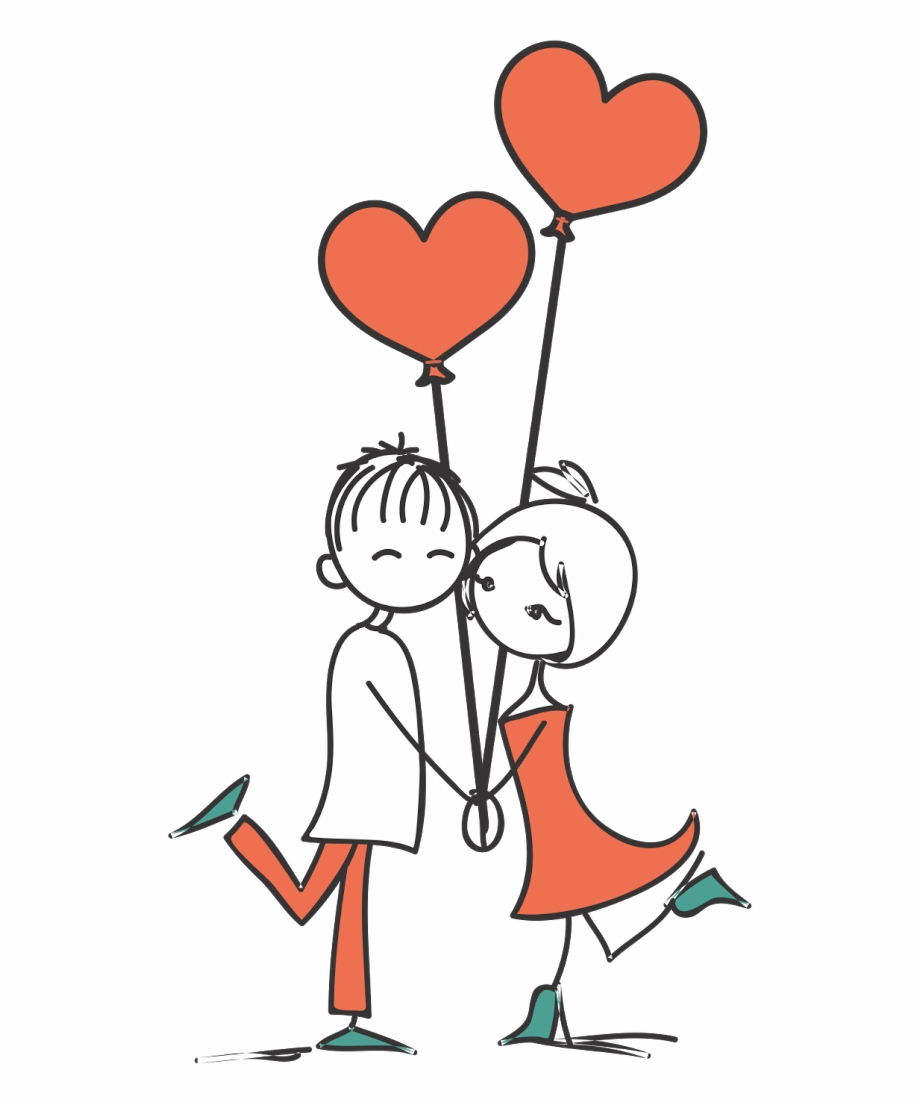 Stick Figure Couple Png - Casal De Namorados Desenho, Transparent ... picture library