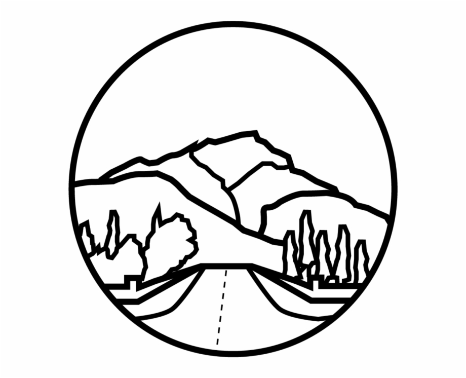 Banff Cascade Mountain - Line Art Free PNG Images & Clipart Download ... png transparent download