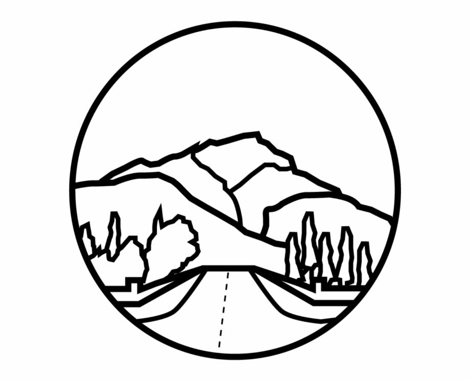 Cascade mountains silhouette clipart png transparent download Banff Cascade Mountain - Line Art Free PNG Images & Clipart Download ... png transparent download