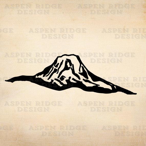 Cascade mountains silhouette clipart clip art royalty free stock Mount Adams Washington Wilderness Clip Art Vector, mount adams ... clip art royalty free stock