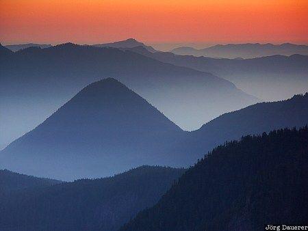 Cascade Mountains, evening light, mount rainier, mountain, Packwood ... free stock