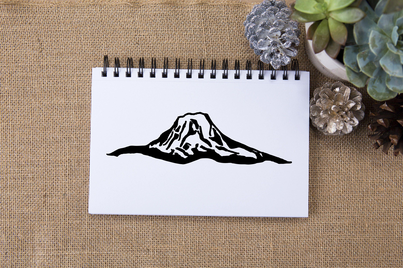 Mount Adams Washington Wilderness Clip Art Vector, mount adams ... clipart black and white download