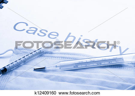 Case history clipart graphic library Stock Photography of Case history, mask, syringe and thermometer ... graphic library