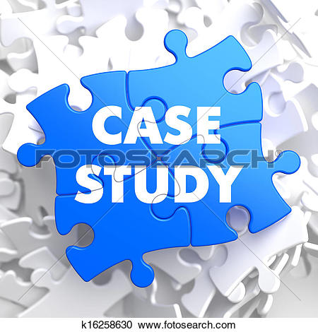 Case report clip art svg black and white download Stock Illustrations of Case Study on Blue Puzzle Pieces. k16258630 ... svg black and white download