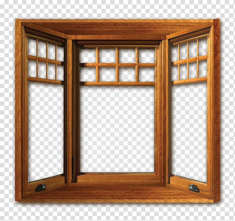 Casement window clipart clipart Brown wooden window, Casement window Wood Door Replacement window ... clipart