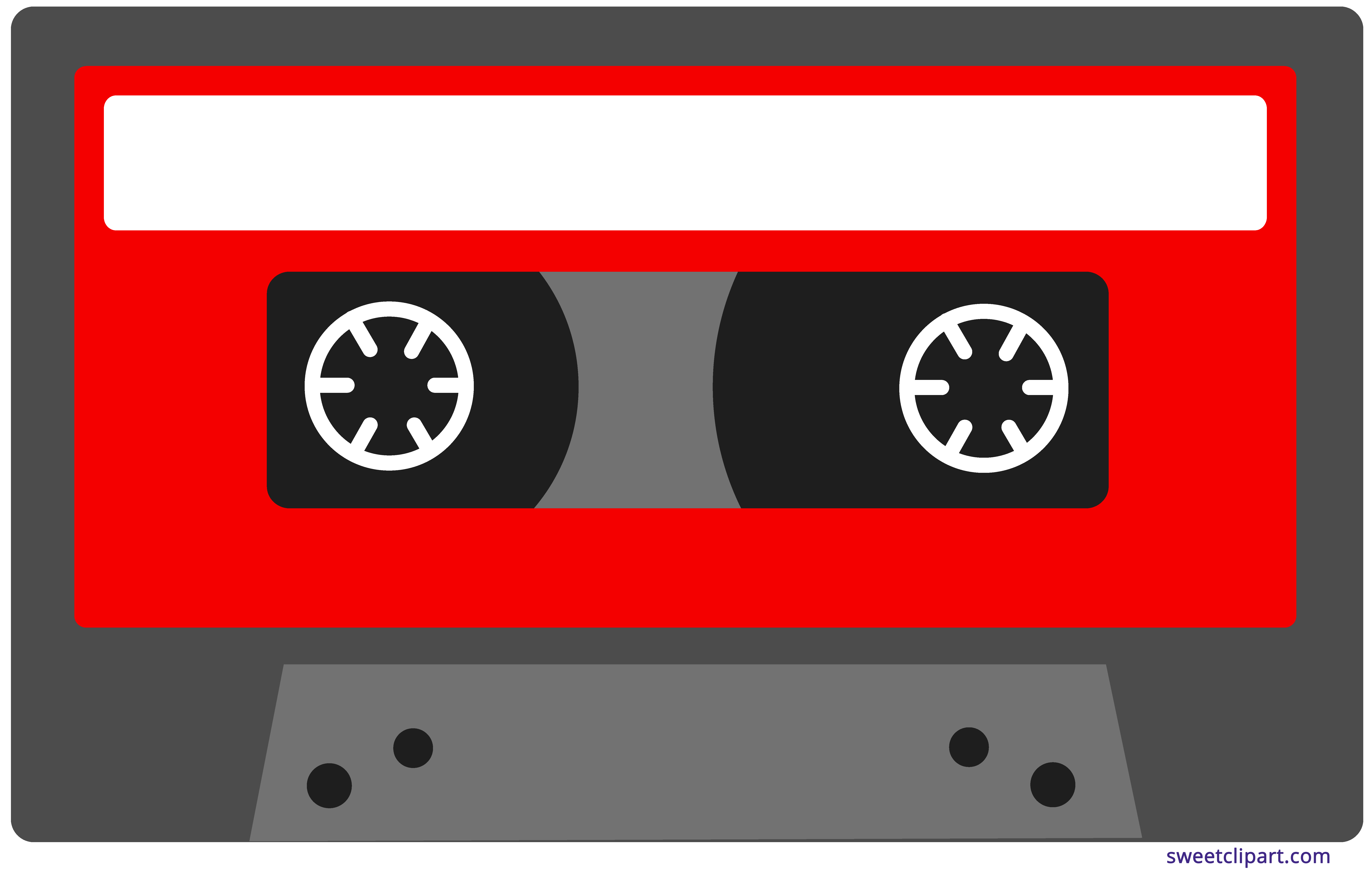 Cassette tape images clipart graphic black and white download Red Cassette Tape Clipart - Sweet Clip Art graphic black and white download