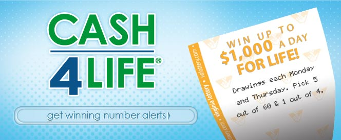 Cash 4 picture black and white library Cash4Life® - Games and More Official Home of the Virginia Lottery picture black and white library
