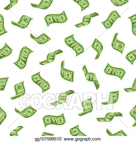 Vector Stock - Money rain. falling dollars denominations, raining ... banner royalty free download