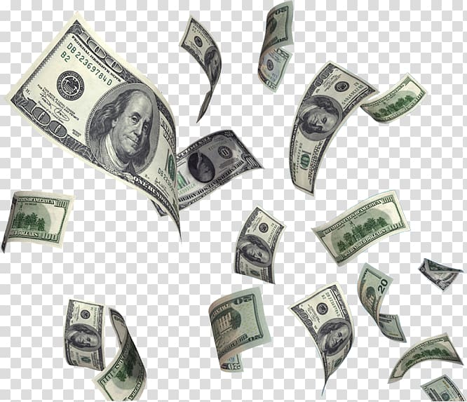 Cash flying clipart image black and white download United States Dollar Money Flying cash, Dollar Flying Money , 100 US ... image black and white download