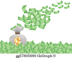 Flying Money Clip Art - Royalty Free - GoGraph clip art royalty free download