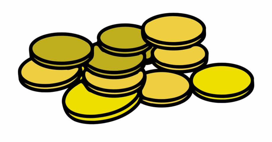 Coin outline clipart png stock Cash Coins Money - Gold Coin Clipart Free PNG Images & Clipart ... png stock