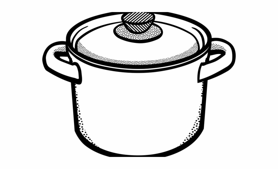 Casseroles clipart black and white vector black and white Free Pot Clipart Black And White, Download Free Clip Art, Free Clip ... vector black and white