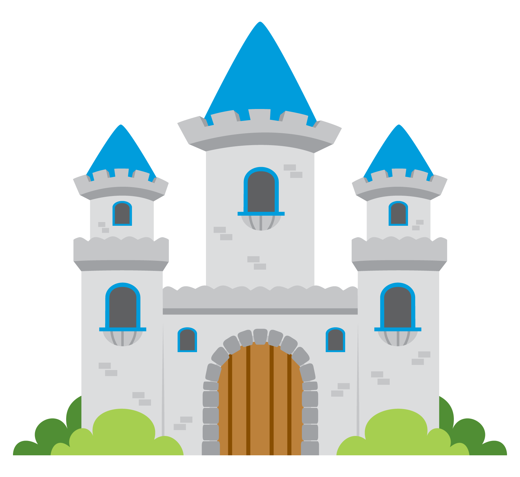 Free Castle Cliparts, Download Free Clip Art, Free Clip Art on ... vector black and white library